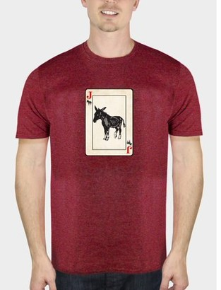 Humör Jack Ass Funny Attitude Men's Cherry Red Graphic T-Shirt, up to Size 5XL