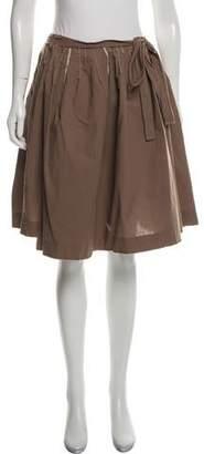 Miu Miu Fluted Raw-Edge Skirt