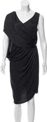 Helmut Lang Sleeveless Knee-Length Dress