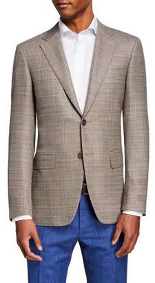 Canali Men's Wool Hopsack Sport Coat Jacket