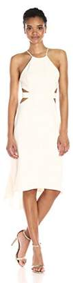 Halston Women's Halter Dress with Back Cut Outs,6