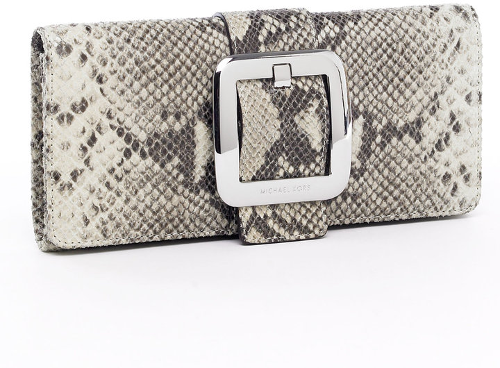MICHAEL Michael Kors Sutton Python-Embossed Clutch