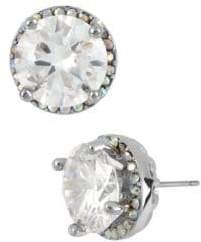 Betsey Johnson Round Crystal Stud Earrings