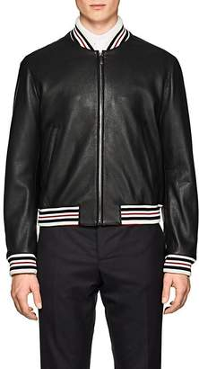 Thom Browne Men's Leather Bomber Jacket