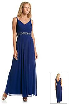 Cachet Drape Back Gown