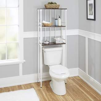 "Co The Twillery Huette Mixed Material 3-Tier 24"" W x 65.75"" H Over the Toilet Storage"