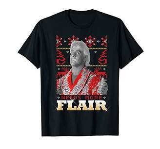 4aa9b457 WWE Men's Needs More Flair Ugly Christmas T-Shirt