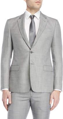 Giorgio Armani Black & White Nailhead Wool Sport Coat