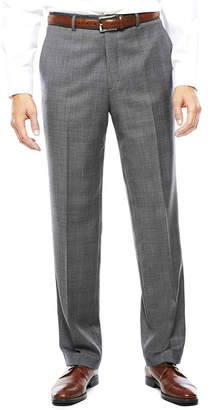 STAFFORD Stafford Gray Glen Check Flat-Front Suit Pants - Classic Fit