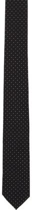 Saint Laurent Black Polka Dot Print Tie