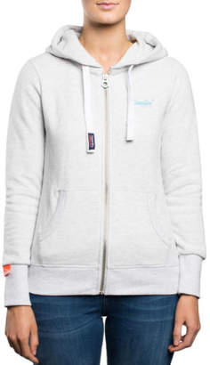 Superdry NEW ORANGE LABEL PRIMARY ZIPHOOD White