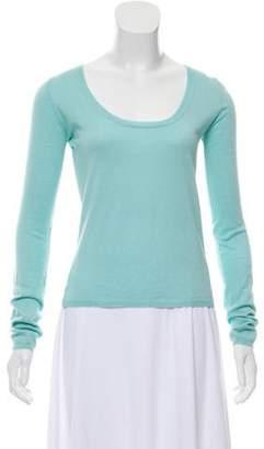 Miu Miu Cashmere-Silk Long Sleeve Top