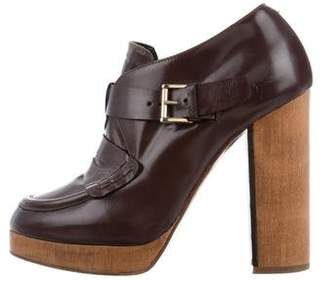 United Bamboo Platform Leather Booties