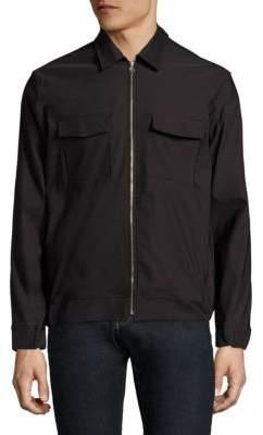J. Lindeberg Long Sleeve Zip-Front Shirt