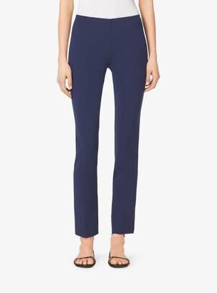 Michael Kors Side-Zip Wool-Crepe Pants