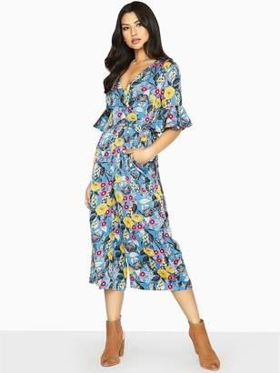 Girls On Film Floral Printed Wide Leg Jumpsuit - Printed