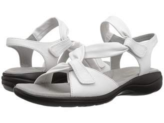 7b60768f2fc Clarks Leather Footbed Women s Sandals - ShopStyle