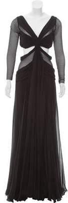 Jay Ahr Silk Maxi Dress