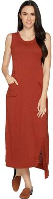 Logo By Lori Goldstein LOGO Lounge by Lori Goldstein Cotton Slub Knit Maxi Dress with Pockets