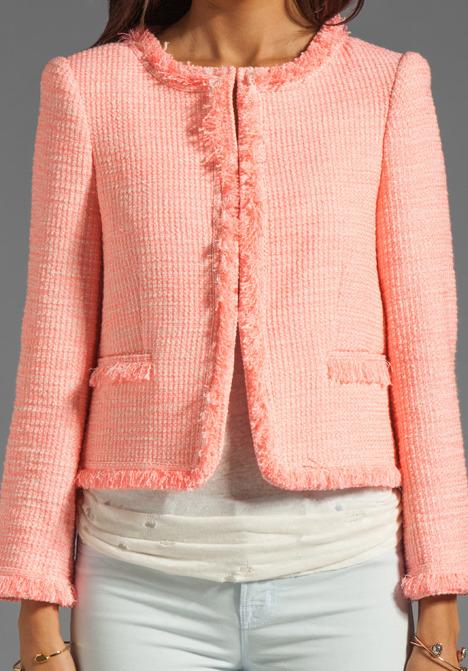 Alice + Olivia Kidman Open Front Box Jacket