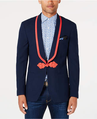 Tallia Men's Slim-Fit Stretch Navy Solid Shawl-Lapel Sport Coat