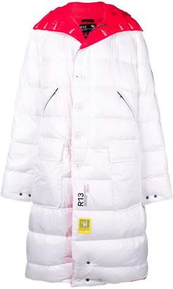 R 13 reversible padded coat