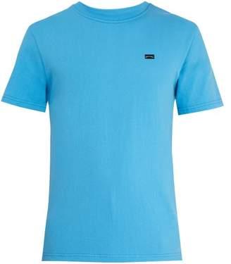 A Brilliant Brand - Crew Neck Logo Print T Shirt - Mens - Blue