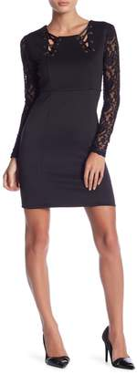 Romeo & Juliet Couture Long Lace Sleeve Dress