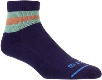 Fits Light Hiker Ankle Stripe Quarter Socks - Men's