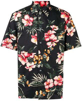 Valentino floral pointed collar shirt