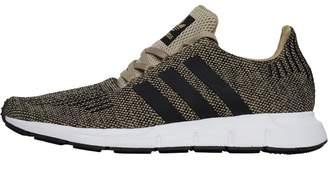 adidas Mens Swift Run Trainers Raw Gold/Core Black/Footwear White