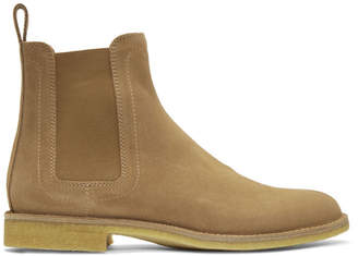 Bottega Veneta Tan Suede Classic Chelsea Boots