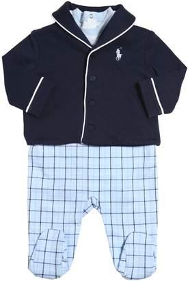 Ralph Lauren Cotton Bodysuit, Romper & Cardigan