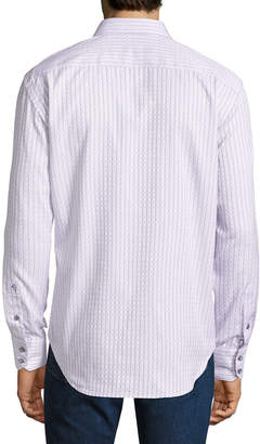 Robert Graham Men's Classic-Fit Goodale Stripe/Dot Woven Shirt