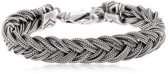 Emanuele Bicocchi Fishtail Braid Silver Chain Bracelet