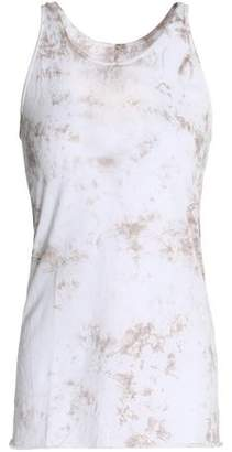 Enza Costa Tie-Dyed Cotton-Jersey Tank