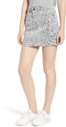 Current/Elliott The Five-Pocket Cutoff Denim Miniskirt