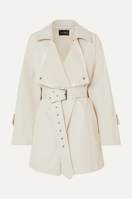 Isabel Marant Jamelo Belted Cotton-blend Gabardine Trench Coat - Ecru