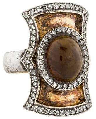 Sevan Biçakci Topaz & Diamond Cocktail Ring