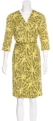 Lafayette 148 Printed Wrap Dress