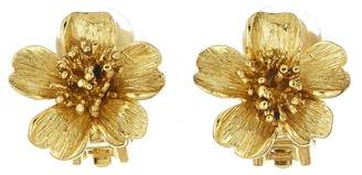 Oscar de la Renta Delicate Flower Button Earrings