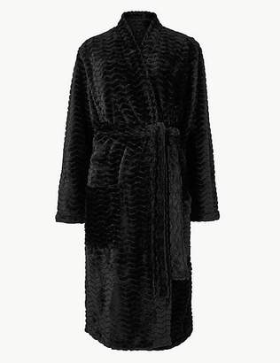 Marks and Spencer Textured Supersoft Long Sleeve Dressing Gown