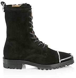 Alexander Wang Women's Kennah Toe Guard Suede Boots