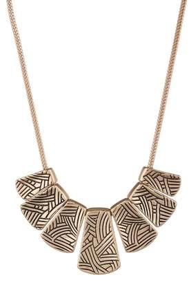 The Sak Etched Pendant Bib Necklace