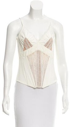 La Perla Lace-Accented Sleeveless Top w/ Tags $445 thestylecure.com