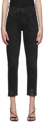A Gold E Agolde AGOLDE Black Jamie Hi Rise Classic Jeans