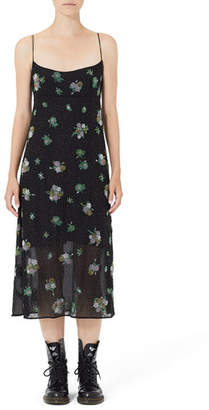 Marc Jacobs Grunge Floral Embroidered Empire Slip Dress