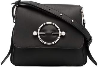 J.W.Anderson black disc leather cross body bag