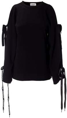 Dondup Lace-up Sleeve Jumper