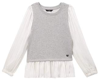 Bebe Chiffon Sleeve Top (Big Girls)